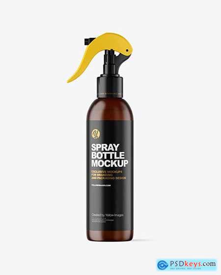 Frosted Amber Spray Bottle Mockup 61134