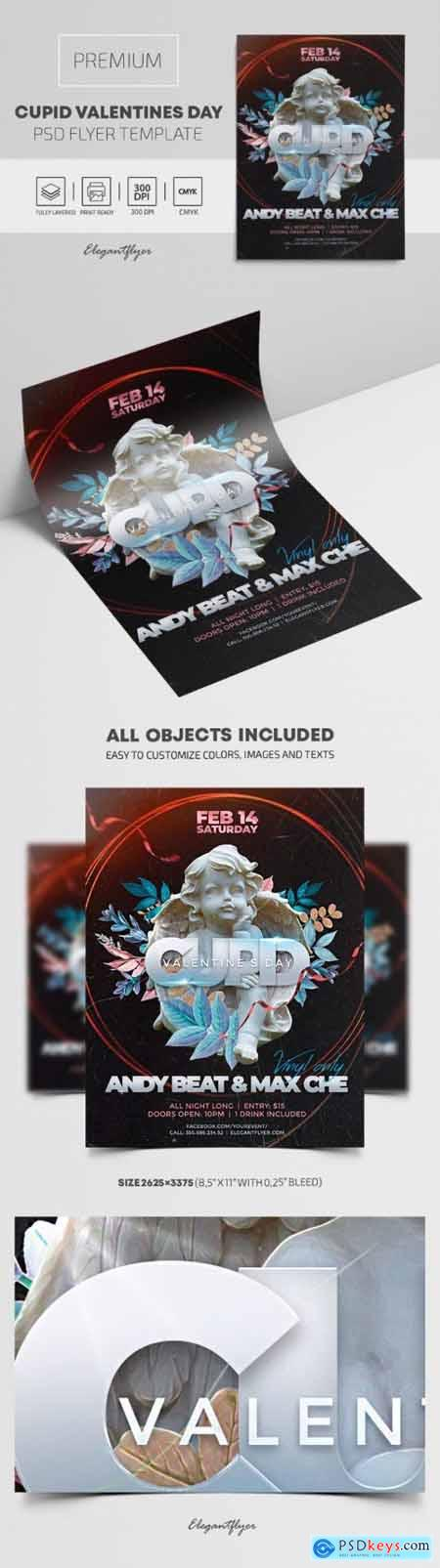 Cupid Valentines Day – Premium PSD Flyer Template