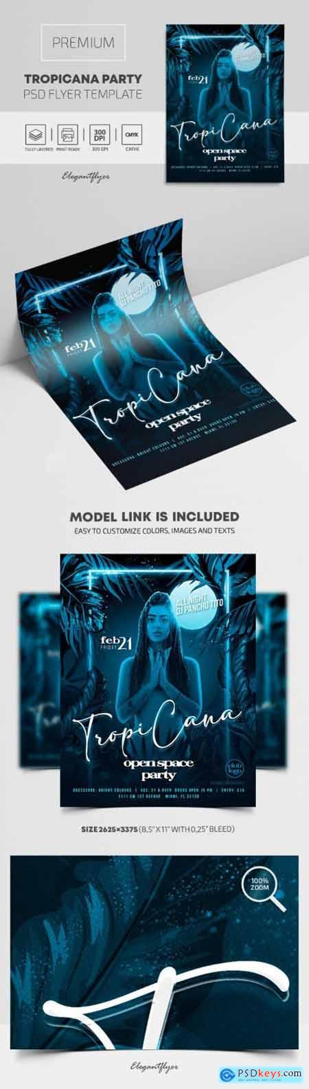 Tropicana Open Space Party – Premium PSD Flyer Template