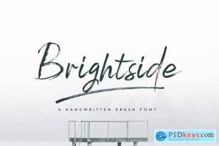 Brightside Brush Font & Extras 3910052