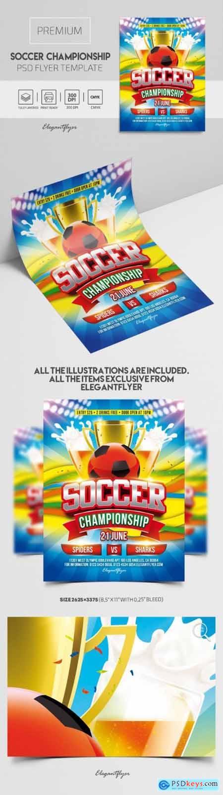Soccer Championship – Premium PSD Flyer Template
