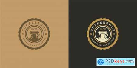 Coffee or tea shop logo