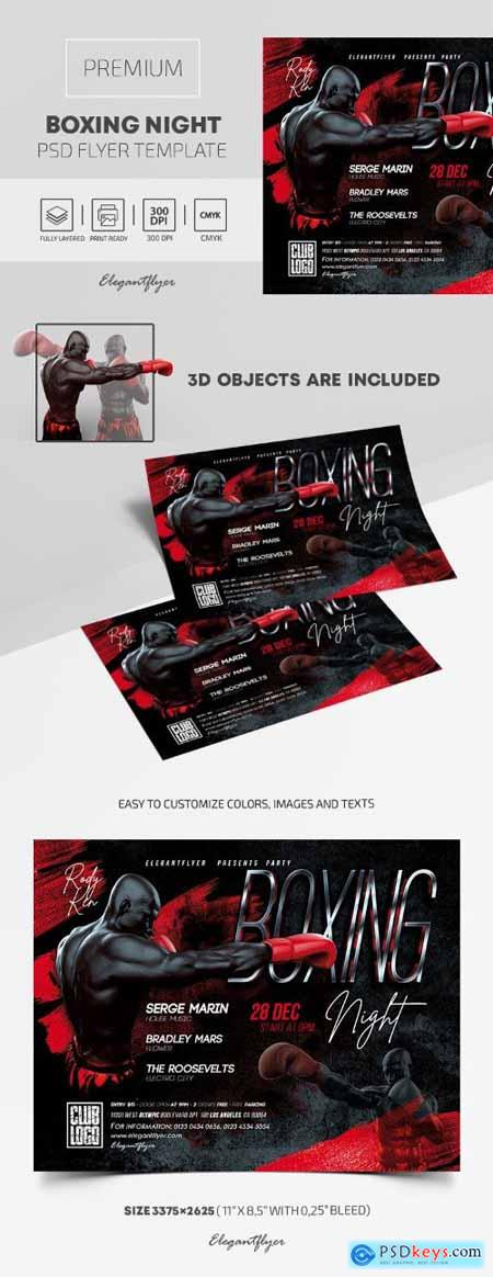 Boxing Night – Premium PSD Flyer Template