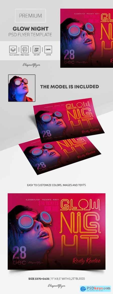 Glow Night – Premium PSD Flyer Template