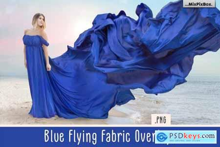 Blue Flying Fabric Overlays 5013308