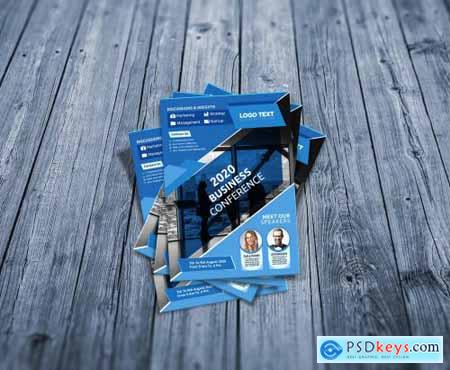 Creativemarket Business conference flyer 4629002