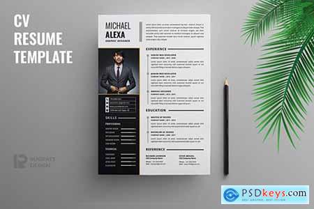 CV Resume R61 Template