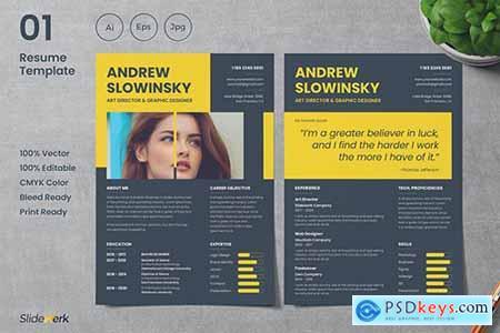 Professional CV Resume Template 01 - Slidewerk