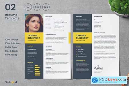 Professional CV Resume Template 02 - Slidewerk