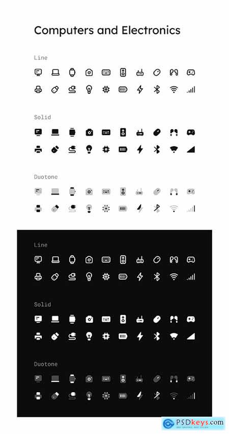 Computers and Electronics Icon Set
