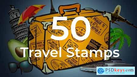 50 Travel Stamps 23673412
