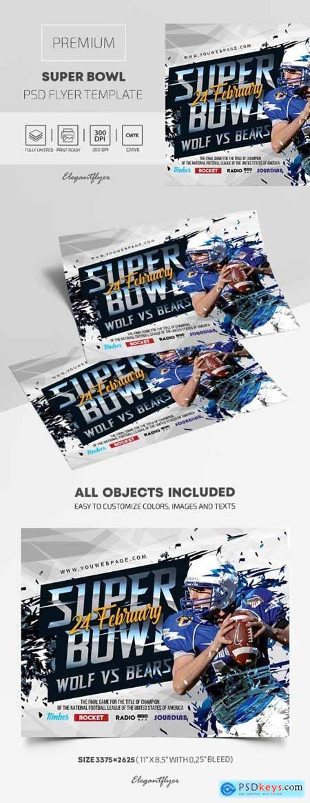 Super Bowl – Premium PSD Flyer Template