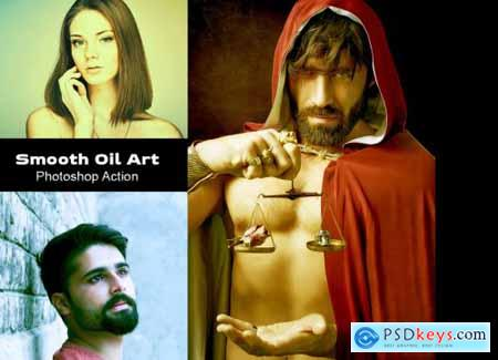 Smooth Oil Art Photoshop Action 4934479