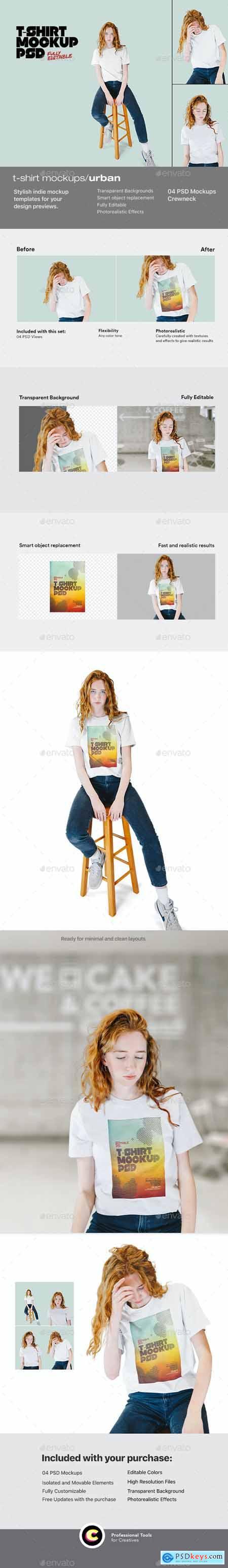 Urban T-Shirt Mockup 26693681