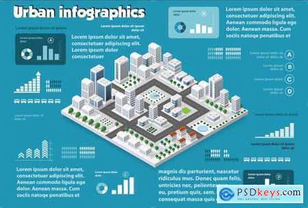 Isometric set infographics