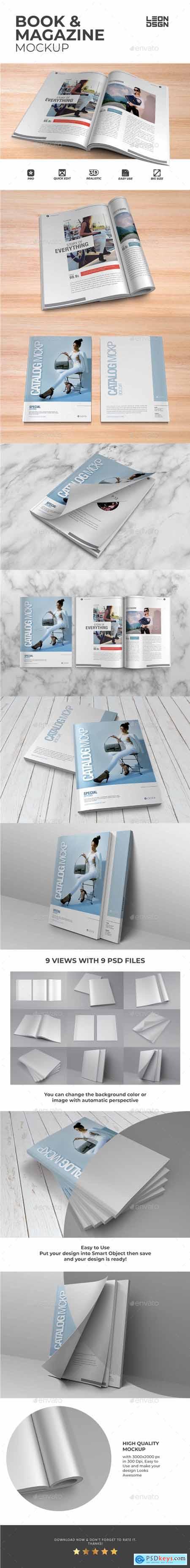 Book & Magazine Mockup 23768183