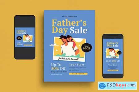 Fathers Day Flyer Set