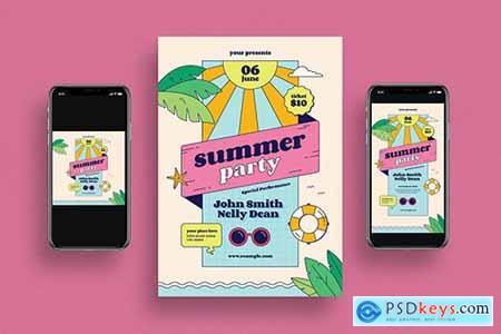 Summer Party Flyer + Social Media555
