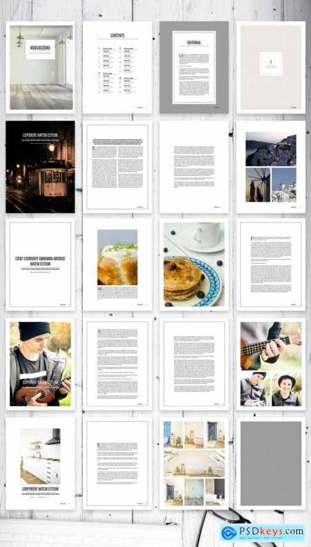 Clean Contemporary and Minimal Digital Magazine Layout 354666560