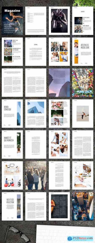 Modern and Minimal Lifestyle Digital Magazine Layout 354667495
