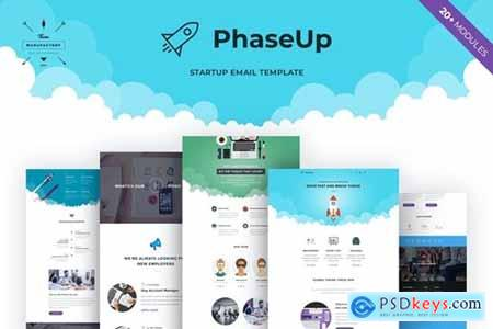 PhaseUp - Startup E-newsletter Template
