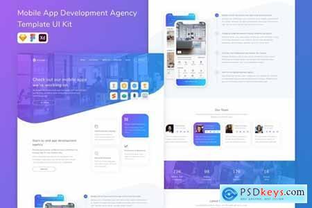 Mobile App Development Agency Template UI Kit