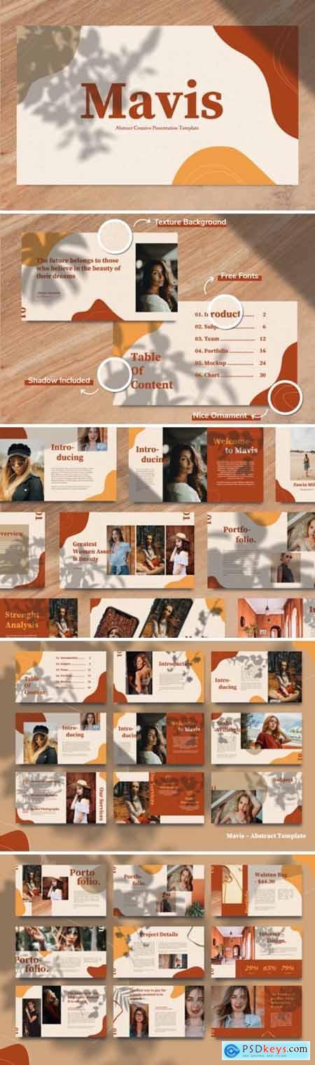 Mavis - Abstract Lookbook Keynote Template 4264901