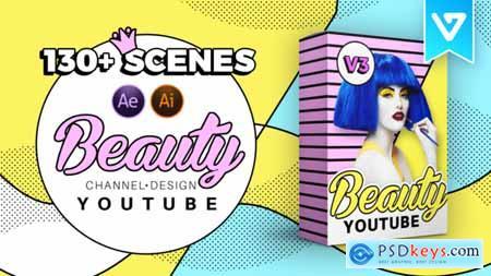 Beauty Youtube Design Pack V3 21097856
