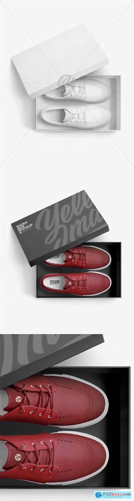 Sneakers Shoes w- Box Mockup 60996