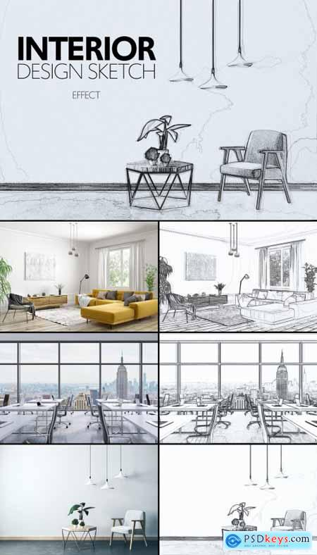 Architectural Sketch Effect 355286768