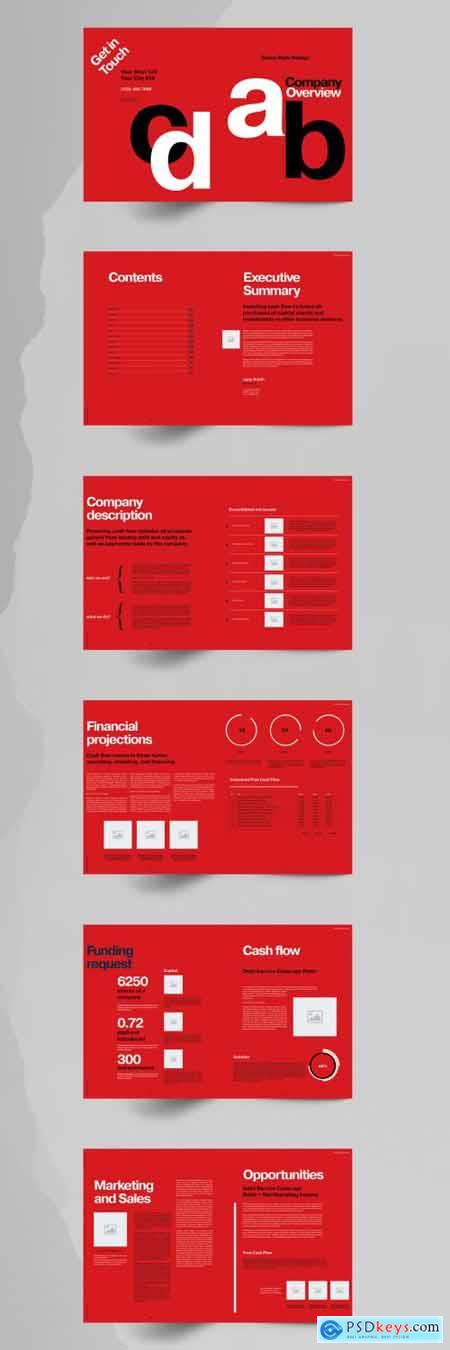 Red Business Brochure Layout 355220850