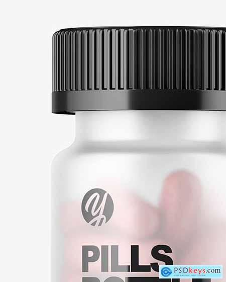 Frosted Pills Bottle Mockup 56645