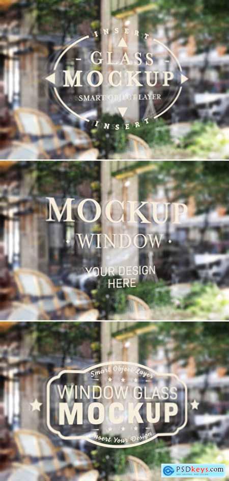 Window Glass Logo Mockup 355042752