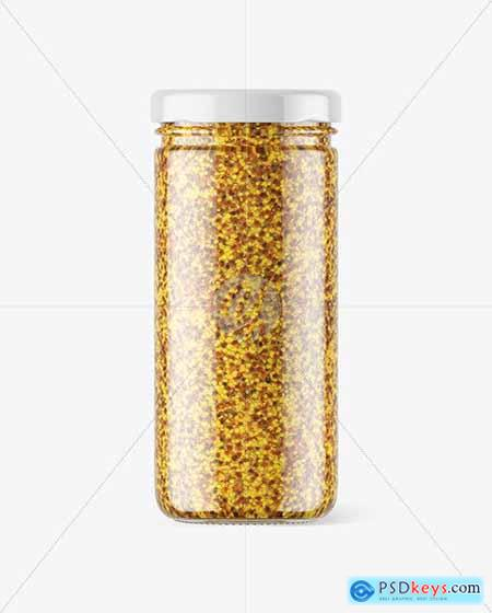 Clear Glass Jar with Wholegrain Mustard 56614