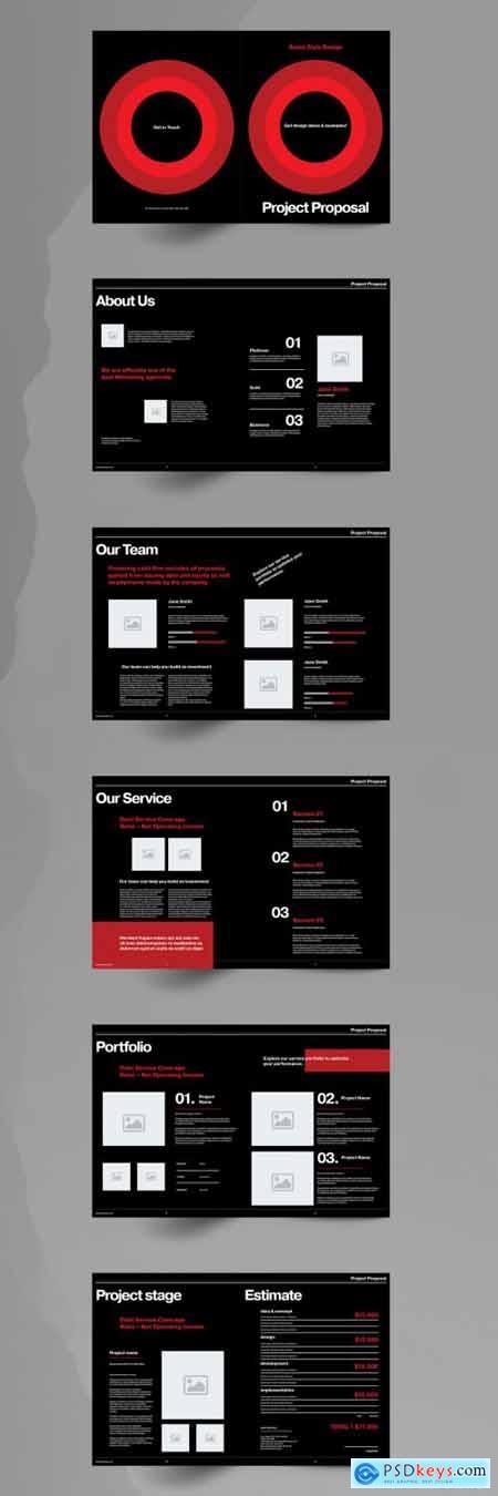 Black Proposal Brochure Layout 355220794