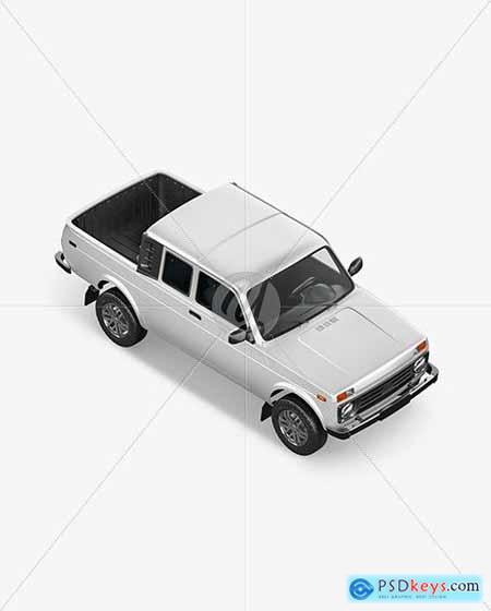 Pickup Truck Mockup - Top HalfSide View 59252