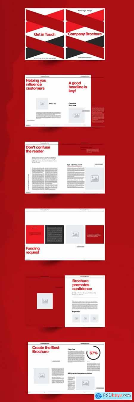 Red Company Brochure Layout 355220898