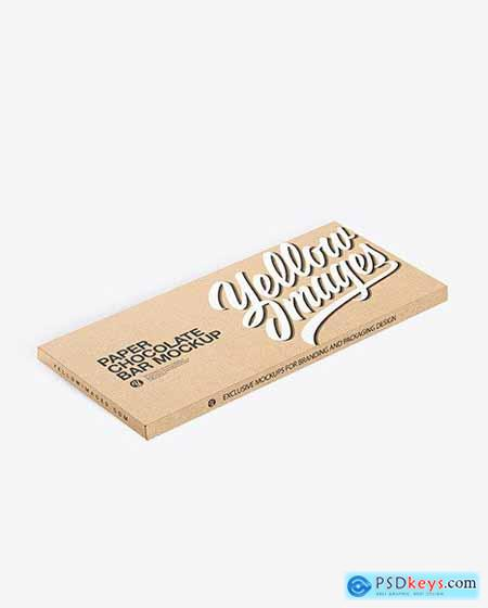 Kraft Paper Chocolate Bar Mockup 56606