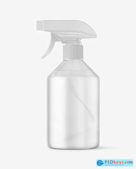 Frosted Spray Bottle Mockup 59223