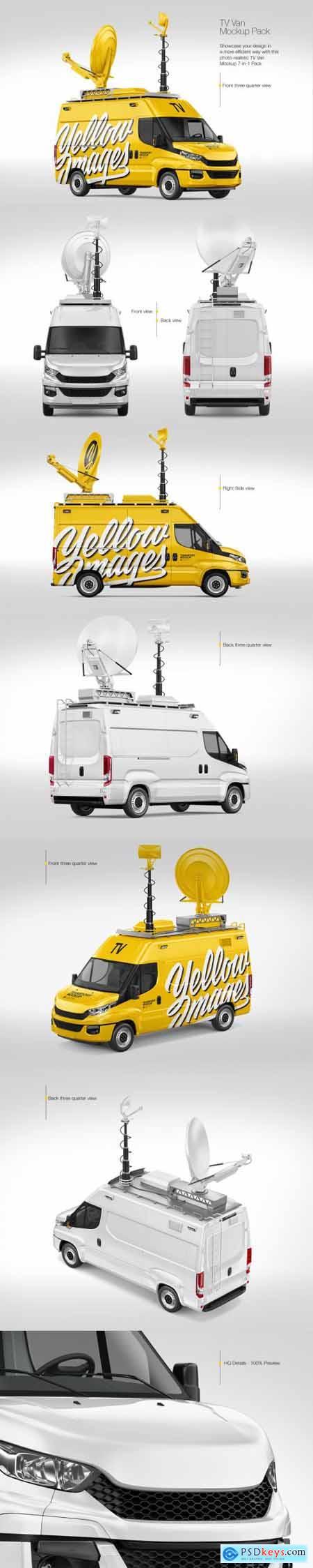 TV Van Mockup - Pack