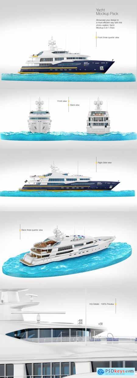 Yacht Mockup Pack