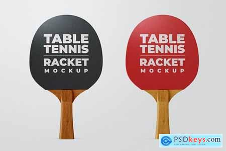 Ping Pong Racket Mock-Up Template