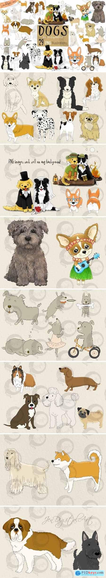 Dogs - Big Graphics Set 4283318