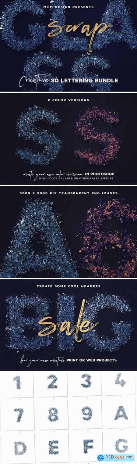 Scrap Glass – 3D Lettering 4284959