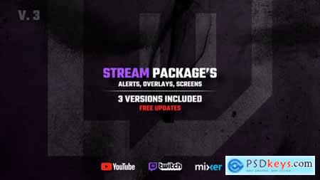 Stream Packages Alerts, Overlays, Screens V3 25429330