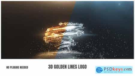 3D Golden Lines Logo 25910106
