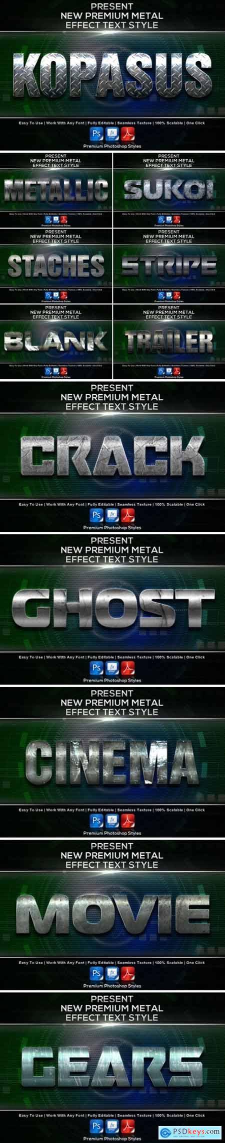 New Premium Metal Styles