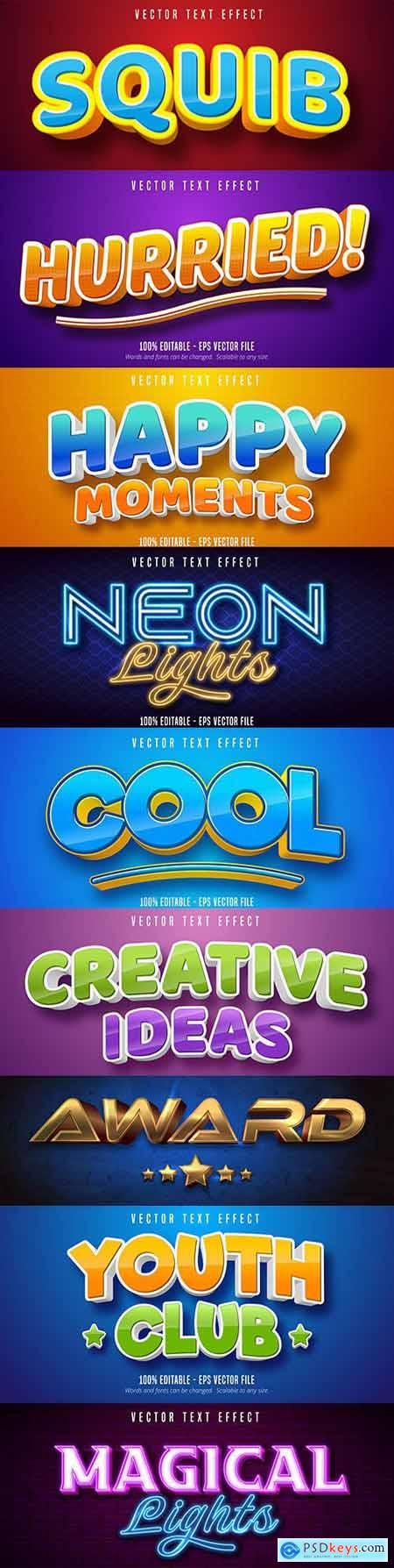 Editable font effect text collection illustration design 106