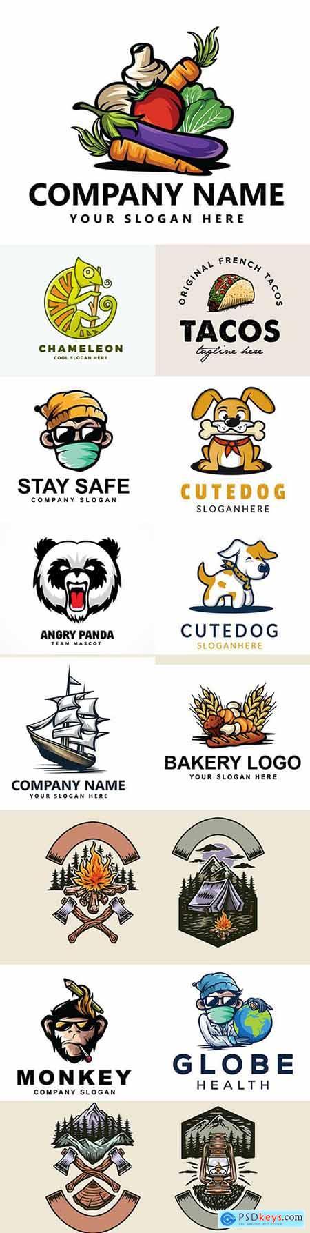 Brand name company logos business corporate design