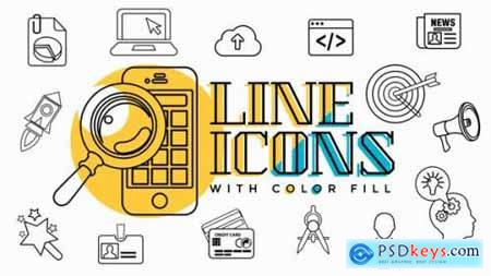 Business Line Icons 18448053